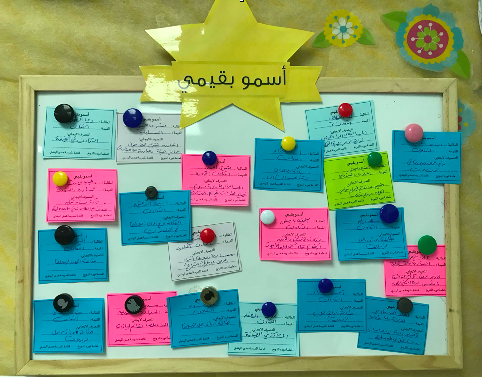 بطاقات تعزيز القيم و السلوكيات الايجابية Shms Saudi Oer Network