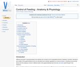 Control of Feeding - Anatomy & Physiology