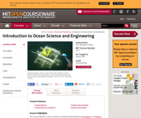 Introduction to Ocean Science and Engineering, Spring 2006
