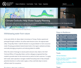 Climate Outlooks Help Water Supply Planning