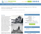 Earthquakes Living Lab: Geology and the 1906 San Francisco Earthquake
