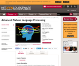 Advanced Natural Language Processing, Fall 2005