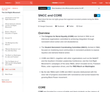 SNCC and CORE