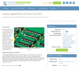 Applications of Linear Functions