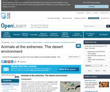 Animals at the Extremes: the Desert Environment