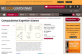 Computational Cognitive Science, Fall 2004