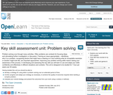 Key Skill assessment Unit: Problem Solving
