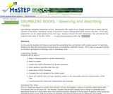 Crumbling Rocks - Observing and Describing Rocks