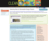 Selecting Sites for Renewable Energy Projects