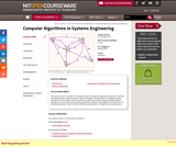Computer Algorithms in Systems Engineering