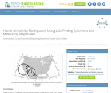 Earthquakes Living Lab: Finding Epicenters and Measuring Magnitudes