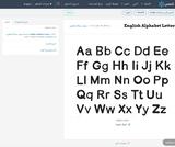 English Alphabet Letters