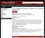 Advanced Structural Dynamics and Acoustics, Spring 2004