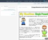 Comprehension work sheets