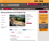 Advanced Geotechnical Engineering, Fall 2003