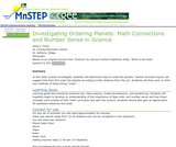 Investigating Ordering Planets: Math Connections and Number Sense in Science