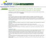 Investigating Germination in Plants: An Inquiry Approach to Germination Growth in Pet Plants