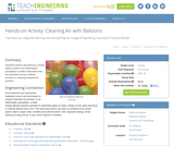 Cleaning Air with Balloons