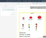 Comparative and superlative adjectives. English grammar