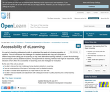 Accessibility of Elearning