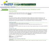 Modeling Earth's Seasons by Rotation and Revolution