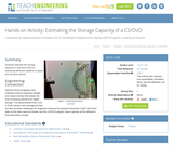 Estimating the Storage Capacity of a CD/DVD