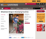 Wheelchair Design in Developing Countries, Spring 2009