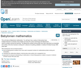 Babylonian Mathematics