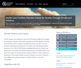 Health Care Facilities Maintain Indoor Air Quality Through Smoke and Wildfires