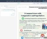 Common errors in comparative and superlative