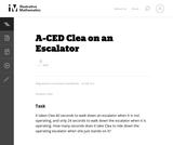 A-CED Clea on an Escalator
