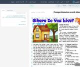 Comprehension work sheet