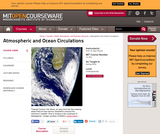 Atmospheric and Ocean Circulations, Spring 2004