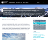 Climate stressors and impacts