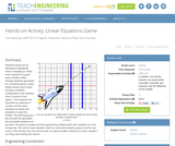Linear Equations Game