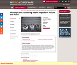 Healthy Cities: Assessing Health Impacts of Policies and Plans