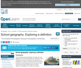 School Geography: Exploring a Definition