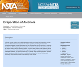 Evaporation of Alcohols