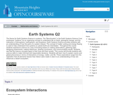 Earth Systems Q2