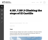 6.RP, 7.RP.3 Climbing the steps of El Castillo