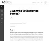 7.EE Who is the better batter?
