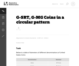 G-MG Coins in a Circular Pattern