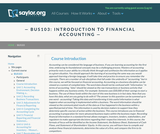 Introduction to Financial Accounting (Business 103)