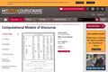 Computational Models of Discourse, Spring 2004