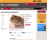 Advanced Animal Behavior, Spring 2000