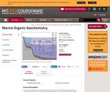 Marine Organic Geochemistry, Spring 2005