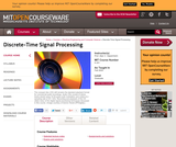 Discrete-Time Signal Processing, Fall 2005