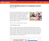 12Fun Speaking Games for Language Learners