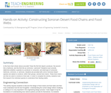 Constructing Sonoran Desert Food Chains and Food Webs