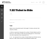 7.EE Ticket to Ride